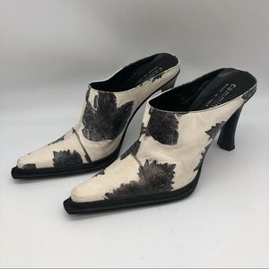 Cammina made in Italy patterned Mules